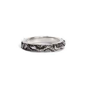 Snake and leaf ring